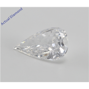 Pear Cut Loose Diamond (1.01 Ct, d, SI1) WGI Certified