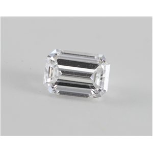 Emerald Cut Loose Diamond (0.57 Ct, d, VVS2) WGI Certified