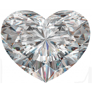 Heart Cut Loose Diamond (0.71 Ct, G, I1(K.M))