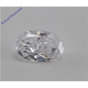 Oval Cut Loose Diamond (0.52 Ct, D ,SI3(Laser DrIlled))