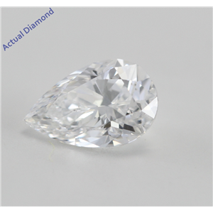 Pear Cut Loose Diamond (0.59 Ct, E, SI1(K.M))