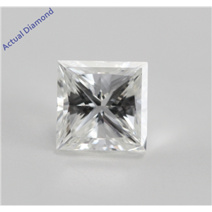 Princess Cut Loose Diamond (0.58 Ct, F, VS1) IGL Certified