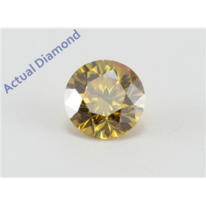 Round Cut Loose Diamond (0.51 Ct, Natural Fancy Deep Orangey Yellow Color, SI1 Clarity) GIA Certified