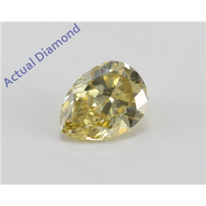 Pear Cut Loose Diamond (0.58 Ct, Natural Fancy Deep Yellow Color, SI1 Clarity) GIA Certified