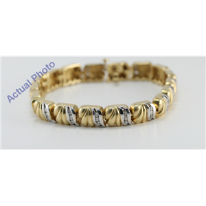 14k White & Yellow Gold Round Cut Vintage Style Two Tone Diamond Fashion Bracelet (1.75 Ct, G-H, SI1)