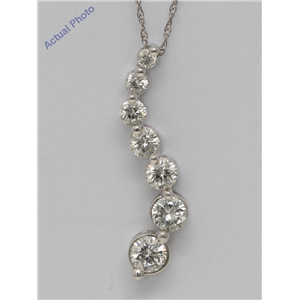 Round Diamond Solitaire Pendant Necklace 14k White Gold 1 Ct,G Color,VS2 Clarity