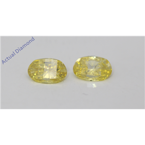 A Pair of Oval Millennial Sunrise Limited Edition Cut Loose Diamonds 0.82 Ct,Yellow Color,VS Clarity