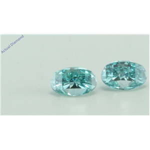 A Pair of Oval Millennial Sunrise (Limited Edition) Loose (0.9 Ct, Blue(Irradiated) Color, VVS Clarity)