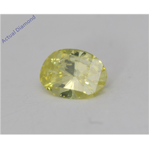 Oval Millennial Sunrise Limited Edition Cut Loose Diamond 0.34 Ct,Yellow Irradiated Color,SI1 Clarity