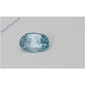 Oval Millennial Sunrise Limited Edition Loose Diamond 0.4 Ct Bluish Green Irradiated Color VS Clarity