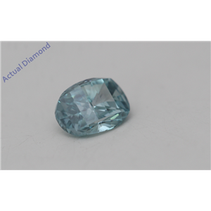 Oval Millennial Sunrise Limited Edition Loose Diamond 0.36 Ct Bluish Green Irradiated Color VS Clarity