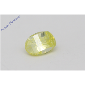 Oval Millennial Sunrise Limited Edition Loose Diamond 0.43 Ct Yellow/green Irradiated Color VS Clarity
