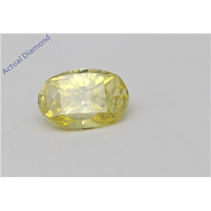 Oval Millennial Sunrise Limited Edition Cut Loose Diamond 0.44 Ct,Yellow Irradiated Color,vs Clarity