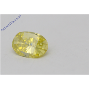Oval Millennial Sunrise Limited Edition Loose Diamond 0.44 Ct,Yellow Irradiated Color,I1-I2 Clarity