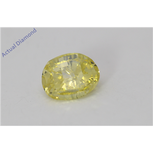 Oval Millennial Sunrise Limited Edition Cut Loose Diamond 0.44 Ct,Yellow Irradiated Color,SI2 Clarity
