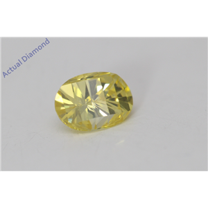 Oval Millennial Sunrise Limited Edition Cut Loose Diamond 0.56 Ct,Yellow Irradiated Color,VS Clarity