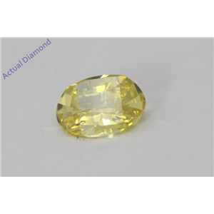 Oval Millennial Sunrise Limited Edition Cut Loose Diamond 0.57 Ct,Yellow Irradiated Color,SI1 Clarity