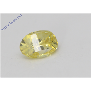 Oval Millennial Sunrise Limited Edition Cut Loose Diamond 0.61 Ct,Yellow Irradiated Color,VS Clarity