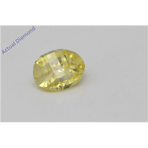 Oval Millennial Sunrise Limited Edition Cut Loose Diamond 0.59 Ct,Yellow Irradiated Color,VS Clarity