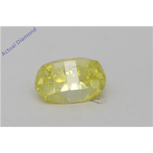 Oval Millennial Sunrise Limited Edition Cut Loose Diamond 0.65 Ct,Yellow Irradiated Color,VS Clarity