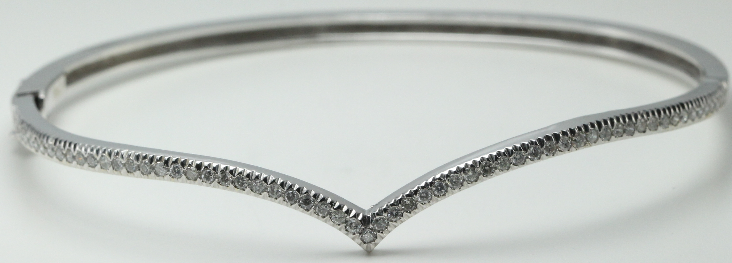 gold bangles white bracelet diamond day stunning bangle with night the this out round into solid pave bracelets
