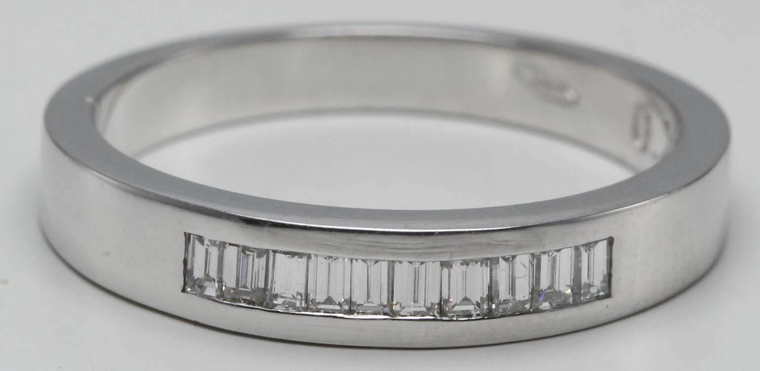 14k White Gold Baguette Cut Clical Channel Set Diamond Wedding Band Ring 0 25 Ct G Color