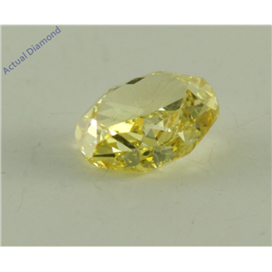 Oval Cut Loose Diamond (0.56 Ct, Natural Fancy Intense Yellow Color, VS2 Clarity) GIA Certified