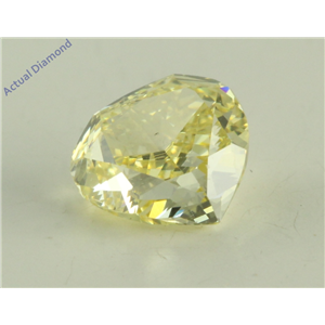 Heart Cut Loose Diamond (0.84 Ct, Natural Fancy Yellow Color, VS2 Clarity) GIA Certified