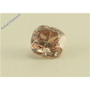 Cushion Cut Loose Diamond (0.33 Ct, Natural Fancy Brown Pink Color, SI2 Clarity) GIA Certified