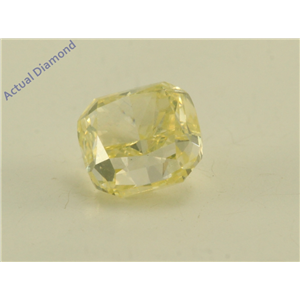 Cushion Cut Loose Diamond (1.51 Ct, Natural Fancy Yellow Color, VS2 Clarity) GIA Certified