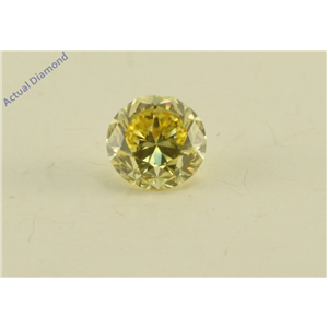 Round Cut Loose Diamond (0.18 Ct, Natural Fancy Intense Yellow Color, VS1 Clarity) GIA Certified