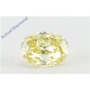 Oval Cut Loose Diamond (0.54 Ct, Natural Fancy Intense Yellow Color, VS2 Clarity) GIA Certified