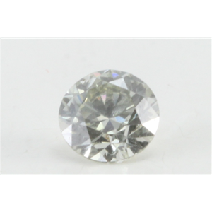 Round Loose Diamond (0.5 Ct, Natural Fancy Color Light Grayish Greenish Yellow Color, VVS2 Clarity) GIA