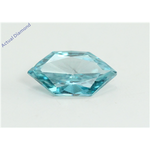 Marquise Duchess Cut Loose Diamond (0.69 Ct, Fancy Blue(Irradiated) Color, VS1 Clarity) IGL Certified