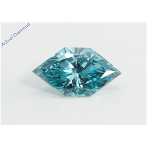 Marquise Duchess Cut Loose Diamond (0.72 Ct, Fancy Blue(Irradiated) Color, VS2 Clarity) IGL Certified