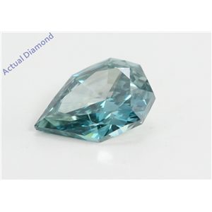 Pear Empress Cut Loose Diamond (1.51 Ct, Fancy Blue(Irradiated) Color, si1 Clarity) IGL Certified