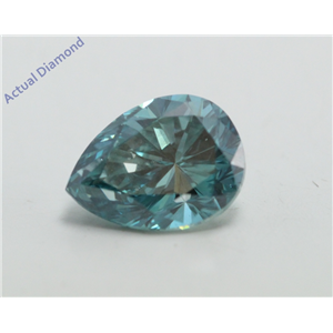 Pear Cut Loose Diamond (1.5 Ct, Fancy Blue(Irradiated) Color, VS2 Clarity) IGL Certified