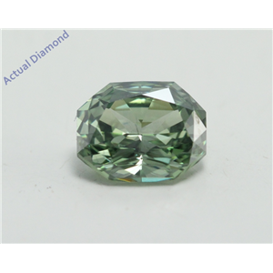 Radiant Cut Loose Diamond (1.01 Ct, Fancy Green(Irradiated) Color, VVS2 Clarity) IGL Certified