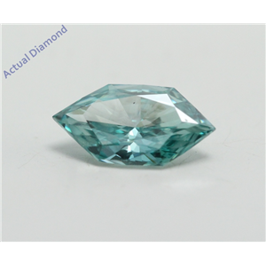 Marquise Duchess Cut Loose Diamond (0.6 Ct, Fancy Blue(Irradiated) Color, VS1 Clarity) IGL Certified