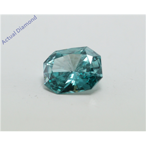 Radiant Cut Loose Diamond (0.82 Ct, Fancy Blue(Irradiated) Color, si1 Clarity) IGL Certified