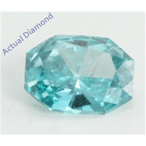 Radiant Cut Loose Diamond (0.36 Ct, Sky Blue(Irradiated) Color, VS2 Clarity)