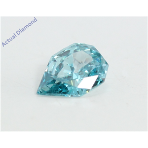 Pear Empress Cut Loose Diamond (0.36 Ct, Sky Blue(Irradiated) Color, VS2 Clarity)