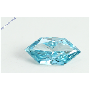 Marquise Duchess Cut Loose Diamond (0.43 Ct, Light Blue(Irradiated) Color, VS2 Clarity)