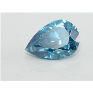 Pear Cut Loose Diamond (0.61 Ct, Blue(Irradiated) Color, si2 Clarity)