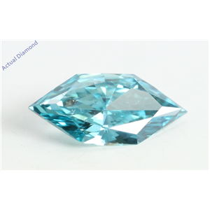 Marquise Duchess Cut Loose Diamond (0.52 Ct, Light Blue(Irradiated) Color, VS1 Clarity)