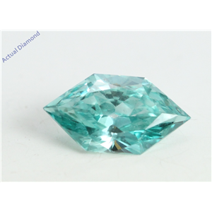 Marquise Duchess Cut Loose Diamond (0.49 Ct, Blueish Green(Irradiated) Color, VS1 Clarity)