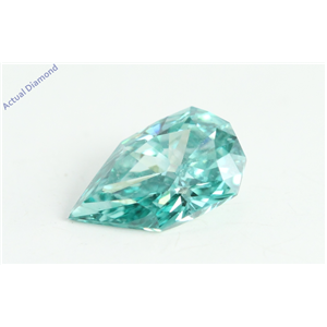 Pear Empress Cut Loose Diamond (0.48 Ct, Light Blue(Irradiated) Color, VS1 Clarity)
