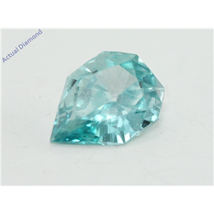 Pear Empress Cut Loose Diamond (0.47 Ct, Light Blue(Irradiated) Color, VS1 Clarity)