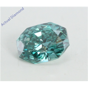 Radiant Cut Loose Diamond (0.51 Ct, Sky Blue(Irradiated) Color, VS1 Clarity)