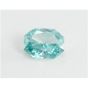 Radiant Cut Loose Diamond (0.5 Ct, Sky Blue(Irradiated) Color, VS1 Clarity)